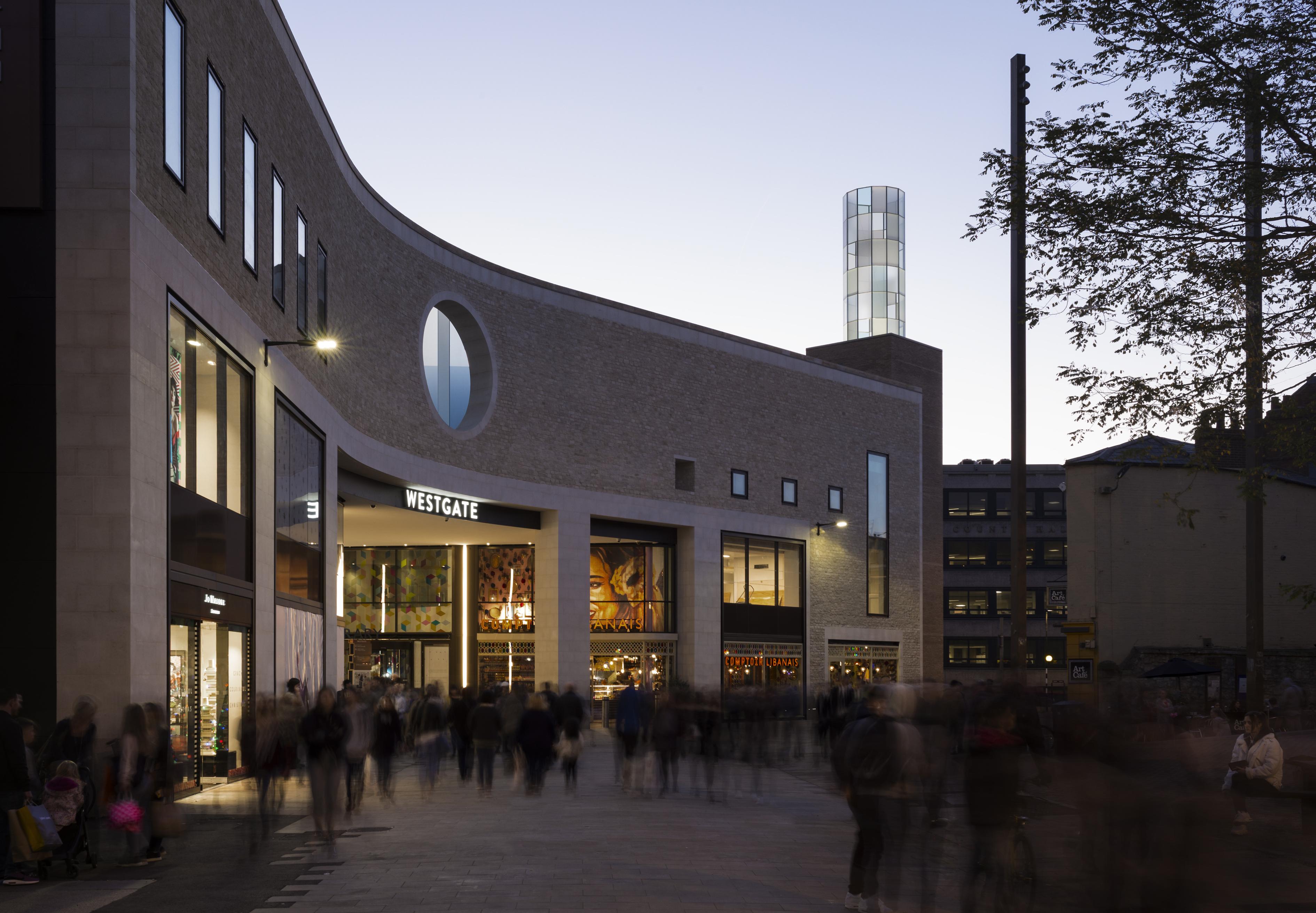 Daniela Schönbächler, The Lantern and Oculus, 2017. Westgate Oxford, Bonn Square entrance. Image credit: Lorenz Ehrismann, Zurich