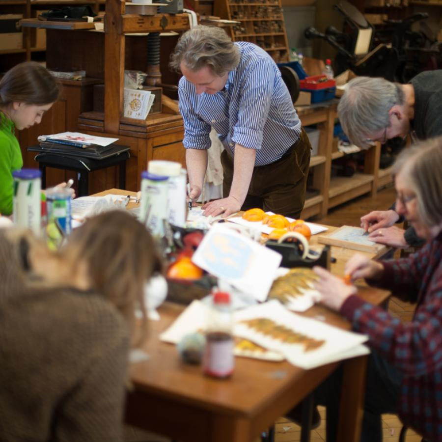 Family workshop at the Bodleian Library