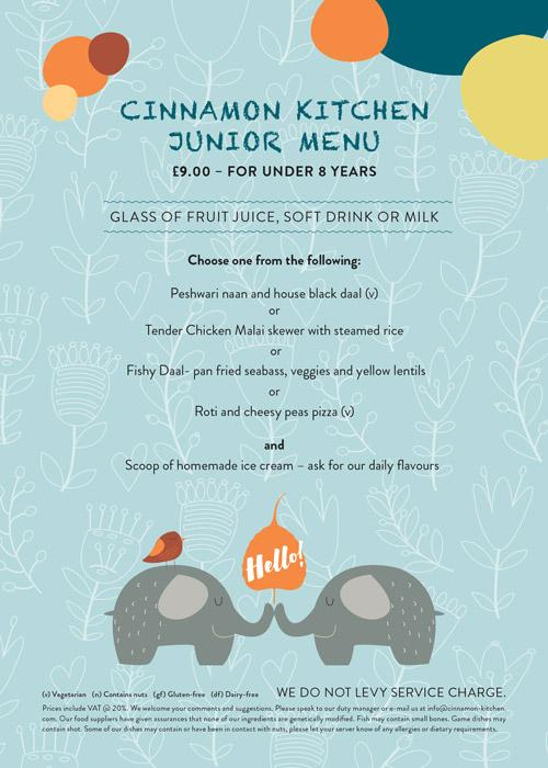 Cinnamon Kitchen Kids Menu | Westgate Oxford