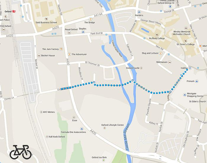 Westgate Oxford Cycle Diversion