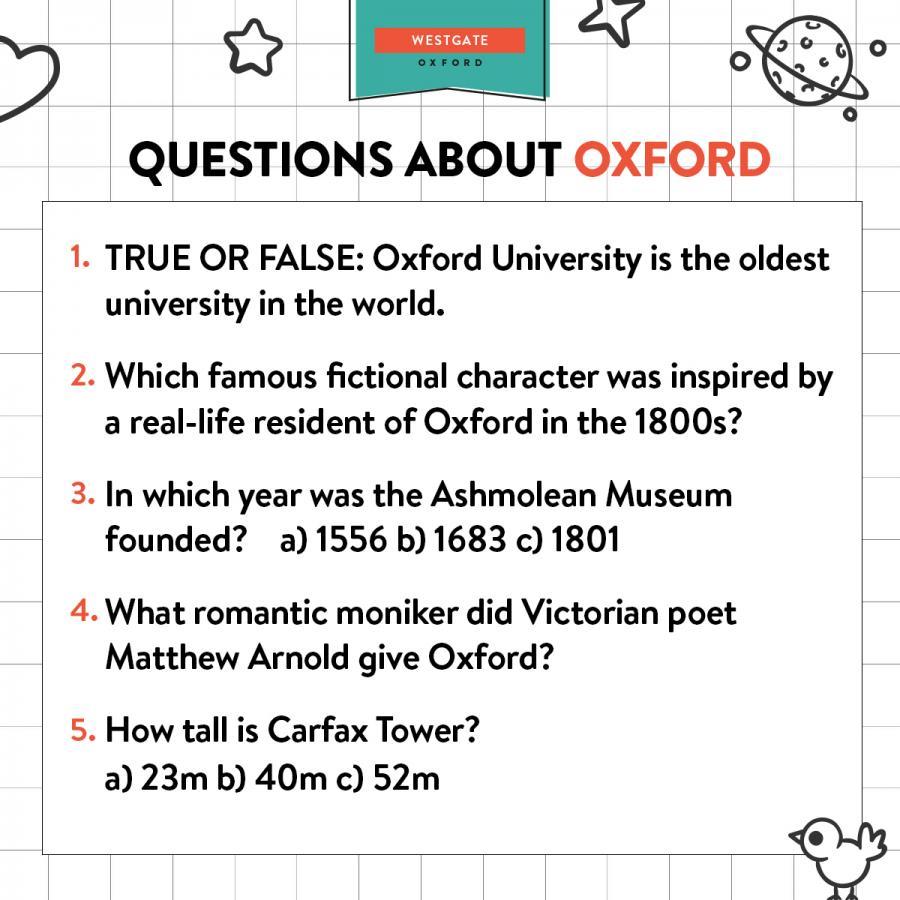 Oxford trivia
