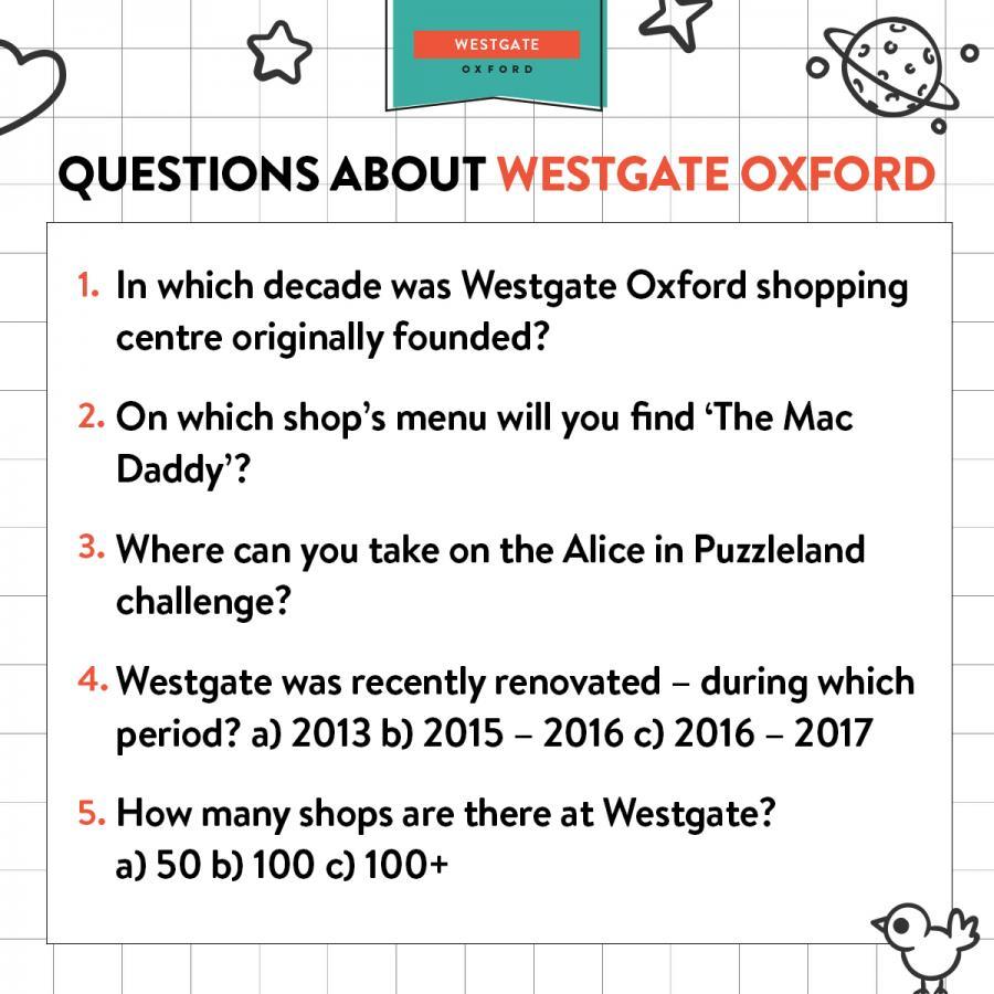 Westgate Oxford trivia
