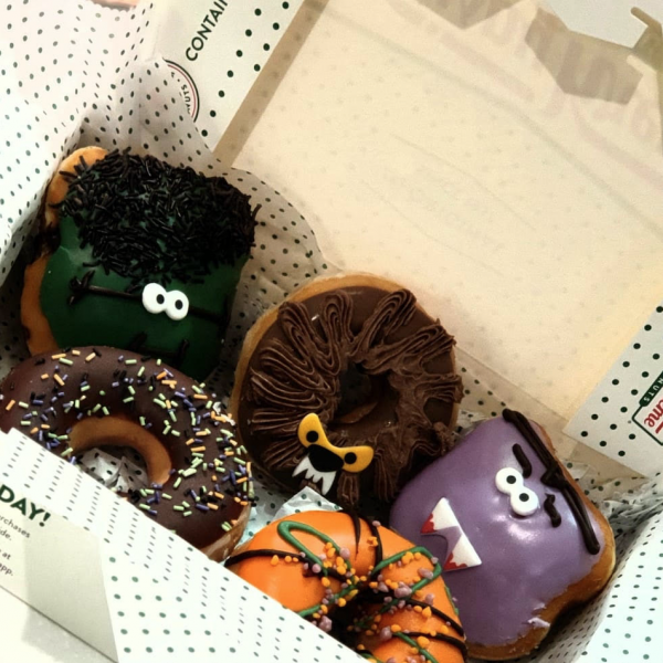 Halloween donuts at Krispy Kreme